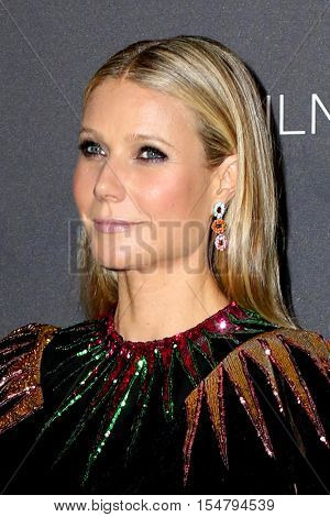 LOS ANGELES - OCT 29:  Gwyneth Paltrow at the 2016 LACMA Art + Film Gala at Los Angeels Country Museum of Art on October 29, 2016 in Los Angeles, CA