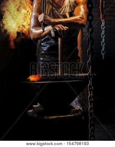 Blacksmith ready to work