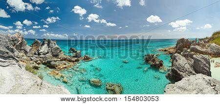 Panorama Of Rocky Bermuda Coast
