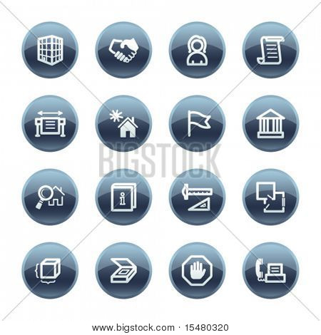 Mineral drop building icons