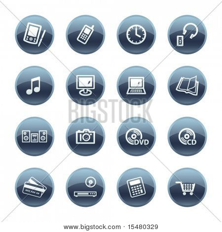 Mineral drop electronics icons