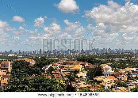 Recife skyline from Olinda, Pernambuco, Brazil