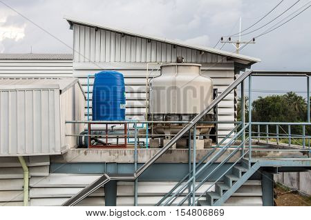 cooling tower , The small cooling tower on industry.