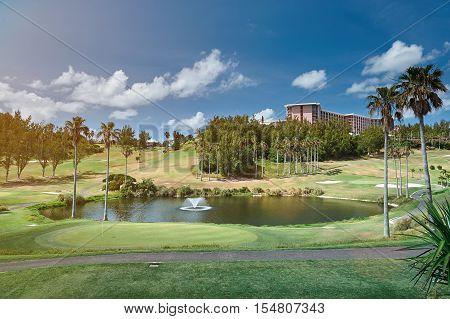 Golf Green Field