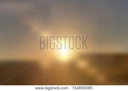 Realistic sun blurred background illustration