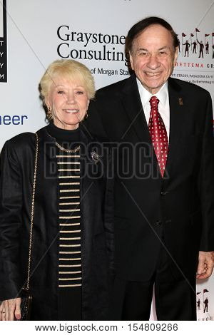 LOS ANGELES - NOV 1:  Elizabeth Sherman, Richard Sherman at the The Walt Disney Family Museum 2nd Annual Fundraising Gala at Disneys Grand Californian Hotel & Spa on November 1, 2016 in Anaheim, CA