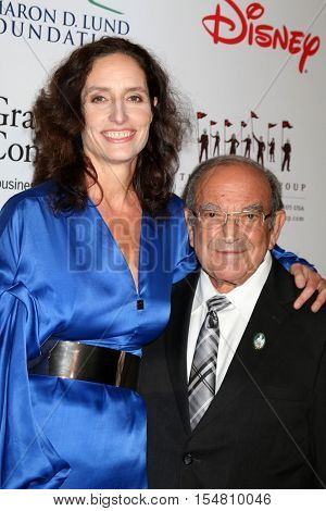 LOS ANGELES - NOV 1:  Kristen Komoroske, Marty Sklar at the The Walt Disney Family Museum 2nd Annual Fundraising Gala at Disneys Grand Californian Hotel & Spa on November 1, 2016 in Anaheim, CA