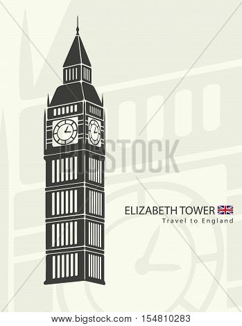 Elizabeth tower clock big Ben in London