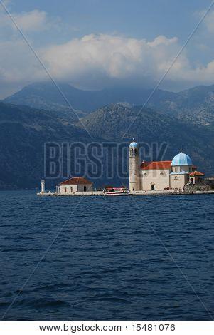 Island with church