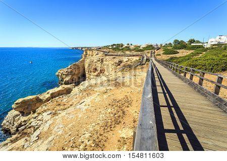 Beautiful Coast In Carvoeiro, Algarve, Portugal