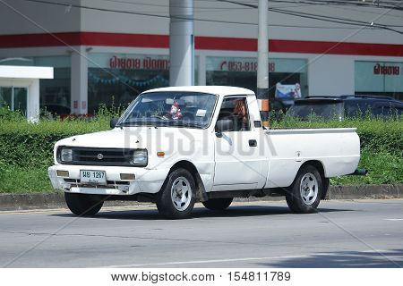 CHIANGMAI THAILAND - OCTOBER 9 2016: Private car Mazda Family mini Pick up truck. On road no.1001 8 km from Chiangmai Business Area.