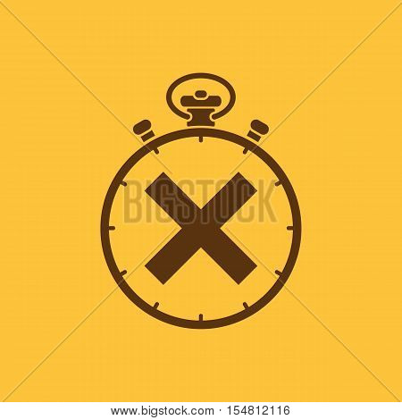 The stopwatch icon. Clock and watch, timer, countdown, stopwatch symbol. UI. Web. Logo. Sign. Flat design. App. Stock vector