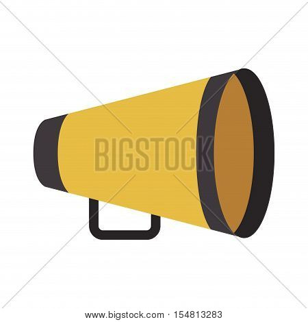 yellow director megaphone icon over white background. cinema design. vector illustration