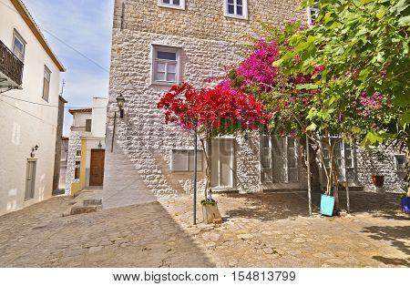 traditional architecture at Hydra island Saronic gulf Greece