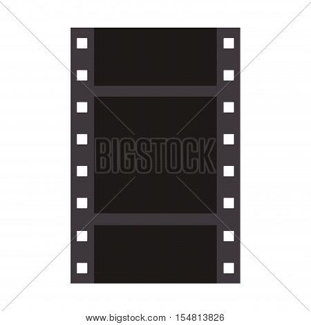 filmstrip icon. negative films over white background. vector illustration