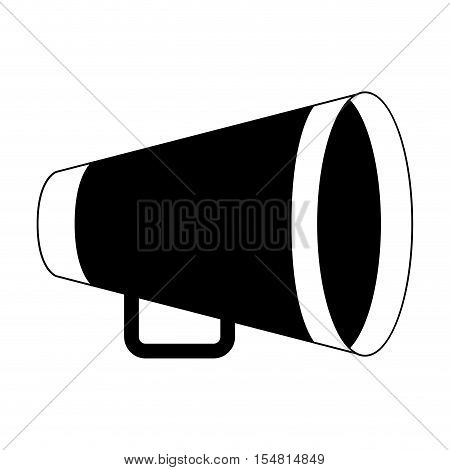 silhouette of yellow director megaphone icon over white background. cinema design. vector illustration