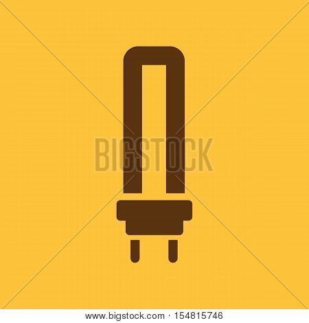 The fluorescent light bulb icon. Lamp and bulb, lightbulb symbol.UI. Web. Logo. Sign. Flat design. App. Stock vector