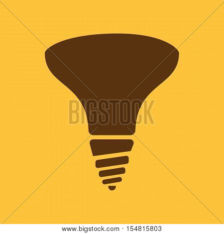 The halogen bulb icon. Lamp and bulb, lightbulb symbol.UI. Web. Logo. Sign. Flat design. App. Stock vector