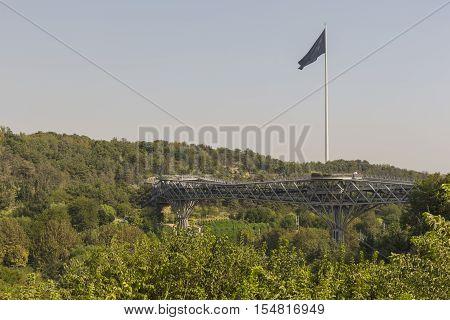 Teheran, Iran - October 05, 2016:tabiat Steel Bridge Connects Two Public Parks By Spanning The Modar