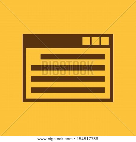 The website icon. WWW and browser, development, seo, website symbol. UI. Web. Logo. Sign. Flat design. App. Stock vector