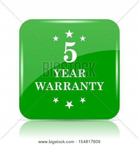 5 year warranty icon. Internet button on white background. poster