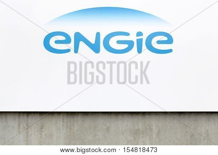 Givors, France - October 22, 2016: Engie is a French multinational electric utility company which operates in the fields of electricity generation and distribution, natural gas and renewable energy