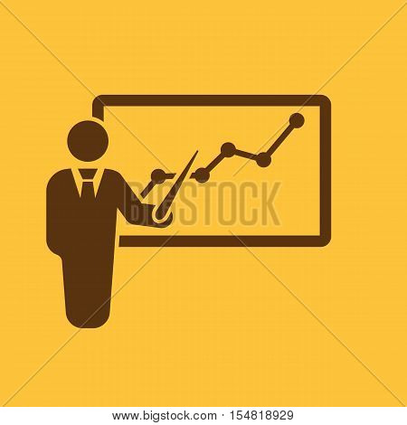 The Presentation icon. Presentation and lectures, presentations, workshops, seminar, staff training symbol. UI. Web. Logo. Sign. Flat design. App. Stock vector