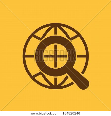 The SEO icon. WWW and browser, development, seo symbol. UI. Web. Logo. Sign. Flat design. App. Stock vector