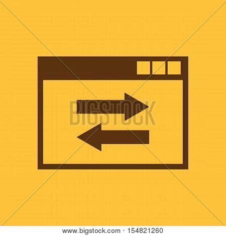 The website link icon. WWW and browser, development, seo, The website link icon. WWW and browser, development, seo symbol. UI. Web. Logo. Sign. Flat design. App. symbol. UI. Web. Logo. Sign. Flat design. App. Stock vector