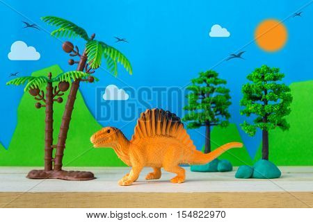 Spinosaurus toy model on wild models background