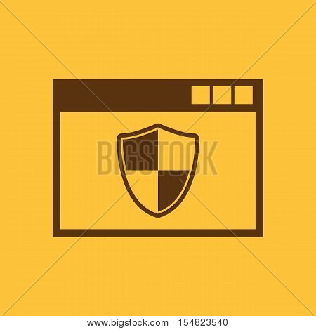 Antivirus icon. design. Firewall, Antivirus symbol. web. graphic. JPG. AI. app. logo. object. flat. image. sign. eps. art. picture - stock vector