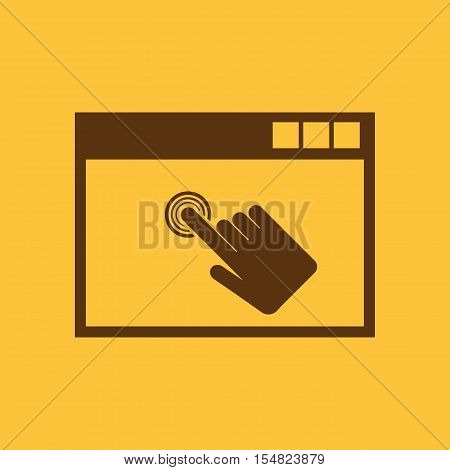 Click icon. vector design. Click symbol. web. graphic. JPG. AI. app. logo. object. flat. image. sign. eps. art. picture - stock vector