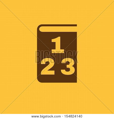Mathematics icon. vector design. Book, Mathematics symbol. web. graphic. JPG. AI. app. logo. object. flat. image. sign. eps. art. picture - stock vector