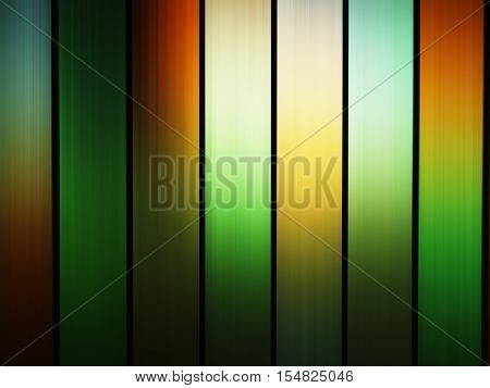 Vertical green and orange stained-glass window background hd
