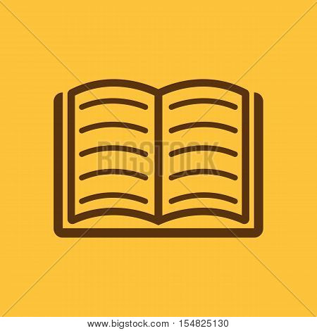 Book icon. vector design. Library, Book symbol. web. graphic. JPG. AI. app. logo. object. flat. image. sign. eps. art. picture - stock vector