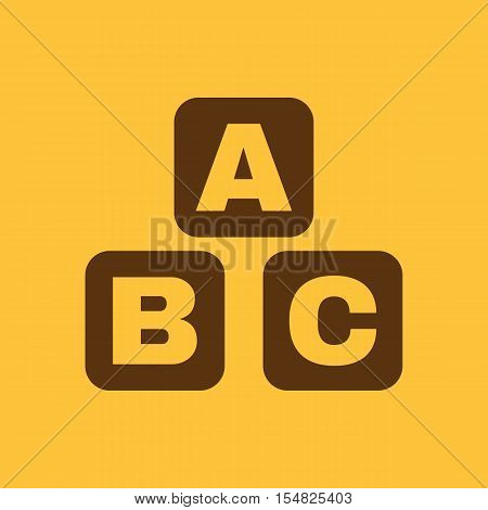 ABC building blocks icon. ABC bricks vector design. Baby bricks symbol. web. graphic. JPG. AI. app. logo. object. flat. image. sign. eps. art. picture - stock vector