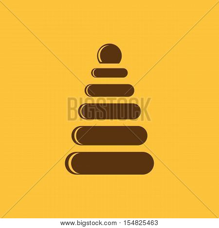 Pyramid toy icon.vector design. Childrens pyramid symbol. web. graphic. JPG. AI. app. logo. object. flat. image. sign. eps. art. picture - stock vector