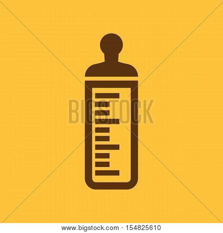 Baby bottle icon. Baby milk bottle design. baby water bottle symbol. web. graphic. JPG. AI. app. logo. object. flat. image. sign. eps. art. picture - stock vector