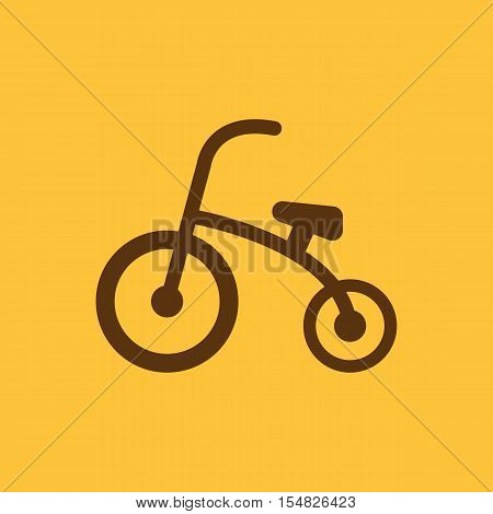 Tricycle icon. design. Bike, bicycle, Tricycle symbol. web. graphic. AI. app. logo. object. flat. image. sign. eps. art. picture - stock vector