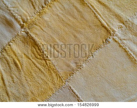 abstract yellow soft leathe Chamois texture background