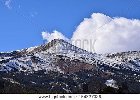 Mountain range of the Continental Divide in Breckenridge, Colorado