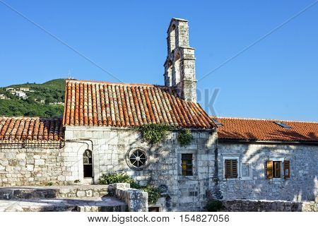 Old church in Budva, Montenegro. Travel background