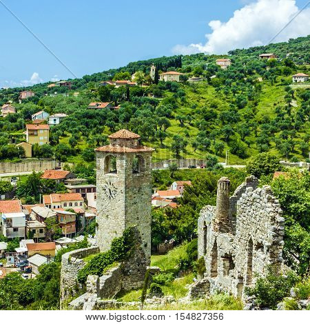 Bar town in Montenegro, old fortress, Balcan