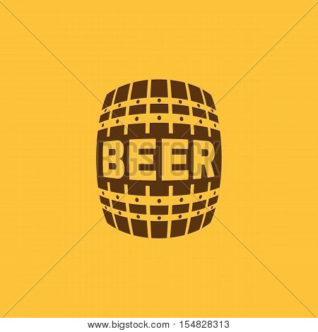The Beer icon. Cask and keg, alcohol, Beer symbol. UI. Web. Logo. Sign. Flat design. App. Stock vector