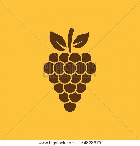 The grapes icon. Grape, grapes, wine symbol. UI. Web. Logo. Sign. Flat design. App. Stock vector