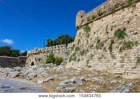 The ruins of ancient fortress Fortezza. Stone walls.
