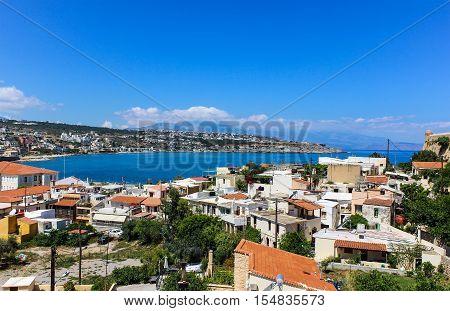 Creta - panorama of the Bay Rethymnon City