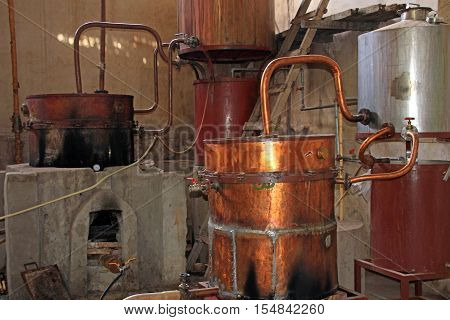 Old Singani distillery in Camargo Bolivia, the distillery was imported from France long time ago.
