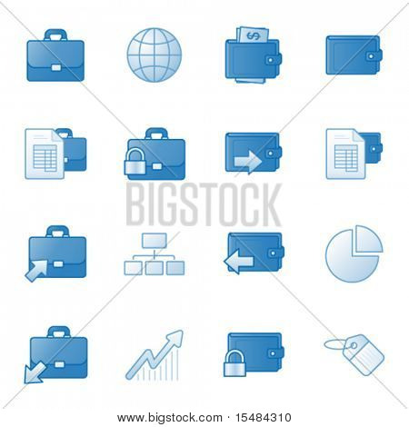 Banking web icons set 1, blue series