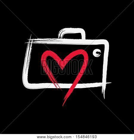 Love Photography Logo vector illustration, Creative Concept